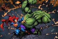 Superman Vs. Hulk.