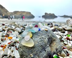 Sea Glass Beach in Cali, near Fort Bragg...