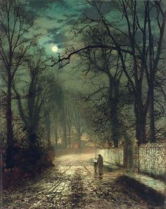 John Atkinson Grimshaw 'A Moonlit Lane' 187