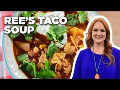 Food Network Recipes, Cooking Recipes, Healthy Recipes, Tasty Meals, Pioneer Woman Soups, Pioneer Woman Taco Soup Recipe, Homemade Churros Recipe, Low Acid Recipes, Easy Taco Soup