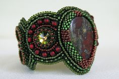 Bead Embroidered Cuff Bracelet - African Sunset | Flickr - Photo Sharing!