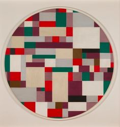 Ilya Bolotowsky, Cobalt Circle, 1953  The early 50s are my favorite period of Bolotowsky's work.