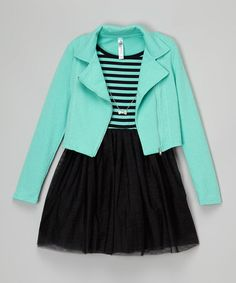 This Sea Turquoise Blazer Set is perfect! #zulilyfinds