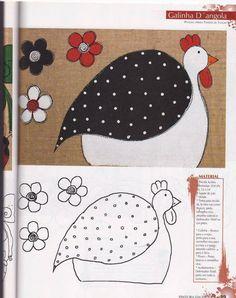 Chicken applique/pattern for tea towels, etc. Machine Applique, Wool Applique, Applique Quilts, Embroidery Applique, Machine Embroidery, Applique Templates, Applique Patterns, Applique Designs, Quilt Patterns