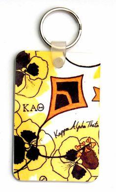 The Kappa Alpha Theta ,credit card size, double sided Key Holder by Greek Zebra - www.GreekZebra.com.