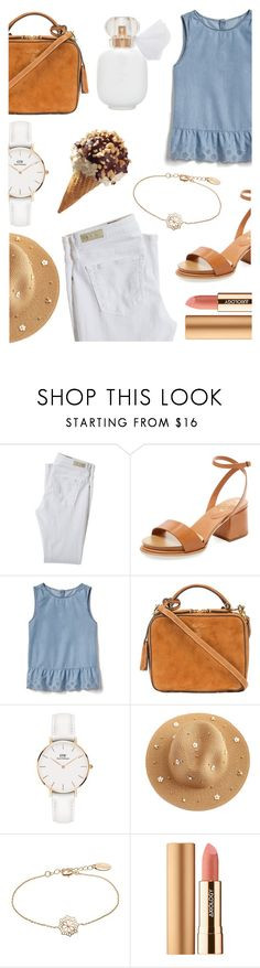 """""""Last days of summer"""" by lostandfound92 ❤ liked on Polyvore featuring AG Adriano Goldschmied, Tod's, Gap, Mark Cross, Daniel Wellington and Axiology"""