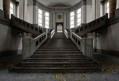 20 Iconic Abandoned Buildings of Europe and America Grand Staircase in Abandoned City Hall