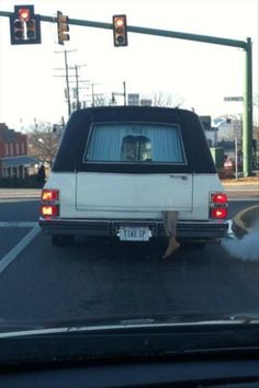 The Old Leg out the Hearse Trick.