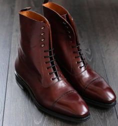 Skolyx.se | Balmoral boots in burgundy leather on last 915...