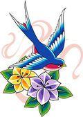 Татуировка ласточки — стоковая иллюстрация #10072112