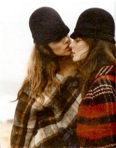 fall - black cap and plaid cape