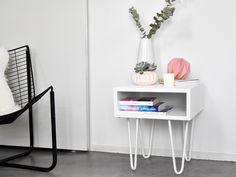 DECOIDEES.be | Comment faire une table d'appoint avec des «hairpin legs» ?