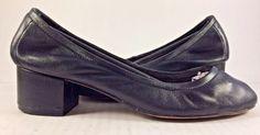Jeffrey Campbell Black Leather Bitsie Block Heel Pump Shoes Womens Size US 7,5M  #JefferyCampbell #PumpsClassics #Casual