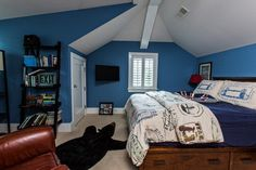 blue bedroom decor 33