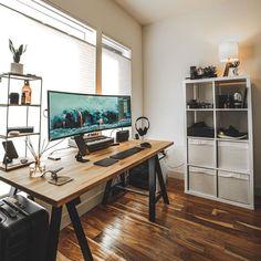 Office designs – Home Decor Interior Designs Home Office Setup, Desk Setup, Room Setup, Office Decor, Pc Setup, Office Interior Design, Office Interiors, Home Interior, Interior Ideas