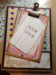 congrats new job card New Job Party, New Job Congratulations, New Job Quotes, Leaving Cards, Good Luck Cards, Neuer Job, Pinterest Projects, Card Crafts, Card Tutorials