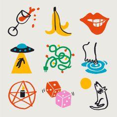 Graphic Design Illustration, Graphic Illustration, Graphic Art, Arte Peculiar, Shirt Print Design, Sticker Design, Wall Collage, Art Inspo, Design Elements