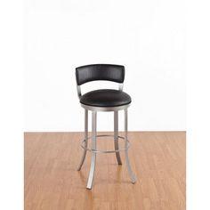 """Birkin 26"""" Swivel Bar Stool with Cushion kitchen Bar Daily Deal #IndustrialModern"""