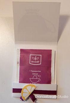 Stampin Up Verpackung Mitbringsel oder kleiner Willkommensgruß Tee Goodies