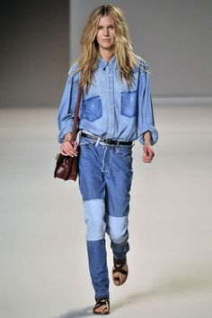 Chloe spring '10 denim on denim