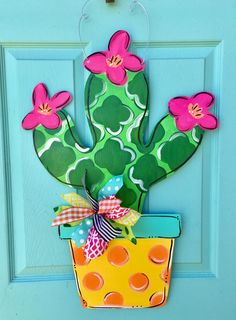 Cute cactus doorhanger by LilyPad Designs