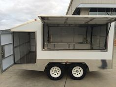 Enclosed Trailers specially designed for shifting products & equipments. Truck Canopy, Enclosed Trailers, Custom Trailers, Bike Trailer, Recreational Vehicles, Ideas, Design, Products, Campers