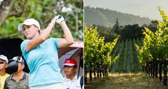 Hole in wine. When golf and wine play together! Cristie Kerr.