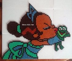 Baby Tiana hama perler beads by Deco. Hama Beads Disney, Hama Disney, Diy Perler Beads, Hamma Beads 3d, Peler Beads, Fuse Beads, Fuse Bead Patterns, Perler Patterns, Beading Patterns