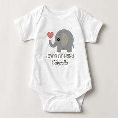 Loved By Nana Personalized Baby T-shirt