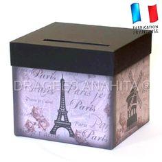 Urne originale pour anniversaire,mariage sur le thème de Paris