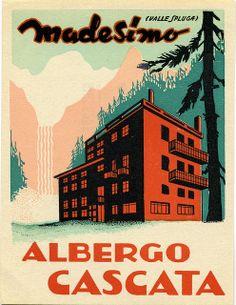 Albergo Cascata Luggage Label