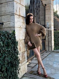 Shop the Look from valentiwalenti on ShopStyleGold & Brown Get The Look, High Neck Dress, Fashion Looks, Shop My, Nude, Brown, Sweaters, How To Wear, Ootd