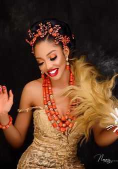 African Print Dresses, African Dress, African Beauty, African Fashion, Igbo Bride, Traditional Wedding Attire, Nigerian Bride, Wedding Looks, Dream Wedding