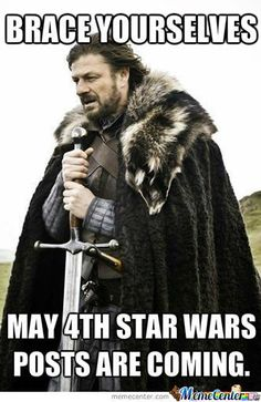 May the 4th be with you...