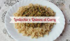 Quinoa accompagnata da una crema di lenticchie thai, con latte di cocco e curry! Un piatto vegano e completo. Delizioso!