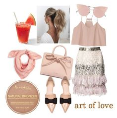 A fashion look from August 2017 featuring v-neck shirts, sequin skirts and Madewell. Browse and shop related looks. Love Couture, Matthew Williamson, Rimmel, Blush Pink, Madewell, Shoe Bag, Polyvore, Collection, Design