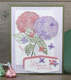 Hydrangea Bloom, Hydrangea Not Blooming, Hydrangea Flower, Strawberry Sundae Hydrangea, Friends Are Like, Stamping Up Cards, Fathers Day Cards, Cool Cards, Seashells