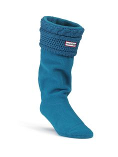 Short Moss Cable Cuff Welly Socks | Rain Boot Socks | Hunter Boots US