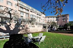 After a disastrous fire, the world renowned Mount Nelson Hotel in Cape Town required a total restoration and redevelopment. The historically sensitive existing buildings were restored to their previous pristine condition and additional luxury garden suites were added. #dhk #MountNelson #architecture #architects #restoration #refurbishment Cape Town Hotels, Refurbishment, Architects, Restoration, Buildings, Street View, Fire, Mansions, Luxury