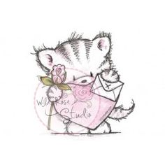 Wild Rose Studio Clear Stamp - Elsie with Heart