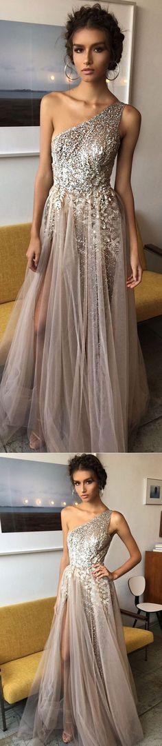 formal one shoulder prom dress #partydresses