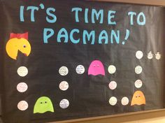 Perfect closing bulletin board for a pacman theme!!!!
