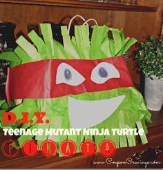 How to Make a Teenage Mutant Ninja Turtle Piñata (With FREE Eyes & Mouth Printable)