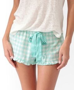 Gingham PJ Shorts | FOREVER21 - 2030187002    http://www.forever21.com/Product/Product.aspx?BR=f21=sleepwear_womens-pajama=2030187002=