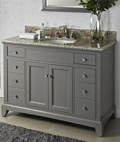 "Fairmont Designs 1504-V48 Smithfield Medium Gray Bathroom Vanity 48 x 21-1/2 x 34-1/2"" - Reviews, Specs, & Discounts"