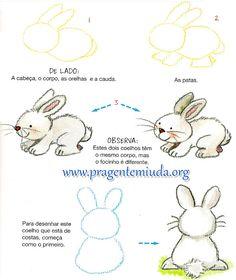 Aprenda a desenhar lindos coelhinhos | Pra Gente Miúda