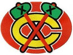 Chicago Blackhawks logo 2 machine embroidery design. Machine embroidery design. www.embroideres.com