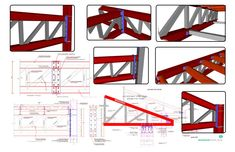 Steel Trusses Complete Set of Details.Complete set of details of all the steel truss related drawings included in our library at a special discounted price. Steel Trusses, Steel Columns, Roof Trusses, Truss Structure, Steel Structure Buildings, Steel Erectors, Steel Girder, Roof Truss Design, Carport Designs