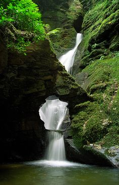 Many regard the dramatic waterfalls at Saint Nectan's Glen (Saint  Nectan's Kieve) as a special, sacred place. This mystical waterfall is  said to be one of the top spiritual sites in the UK. A place where the  presence of the earth Goddess (Gaia, divine mother, or female aspect  of nature), is greatly enlivened.