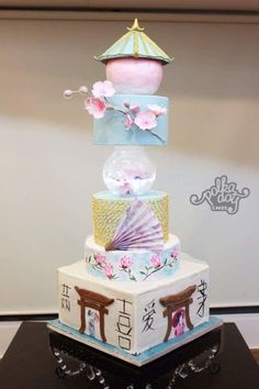 The Japanese Geisha Wedding by deliciousventures - http://cakesdecor.com/cakes/249126-the-japanese-geisha-wedding